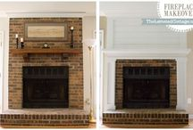 Fireplace makeover / by Laura McManus