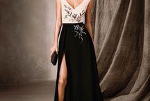 платье черно белое