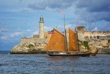 Historic Event - Roseway Schooner in Cuba / Roseway arriving Havana Harbour