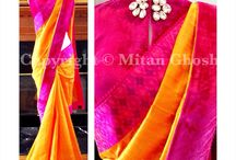 Saree Flavours ! / Different flavours of an age old attire, the saree !