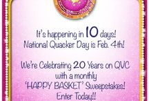 Celebrating 20 Years of Happy! / Can you 'BELIEVE' it's been 20 years since Jeanne Bice & The Quacker Factory made its debut on QVC! We have you to Thank! So… Get Ready to 'Celebrate 20 Years of Happy' and WIN! Each month ONE lucky Quacker will win A Quacker Factory 'HAPPY BASKET'