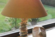 Lampe selber machen mit Muscheln