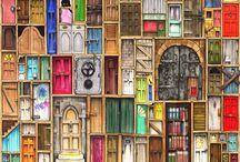 Shut the Front Door! / Doors, doorways, and backdoor dreams. Portals of all kinds. Windows, too. / by Sarah Sally Keyton Dixon