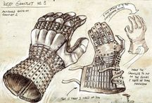 Gauntlets and gloves / Combat gloves and gauntlets