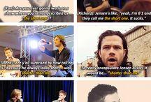 Jensen Ackles// Jarred Padalecki// Misha Collins ❤️❤️ / omg i love them! Supernatural Fandom / by Nata