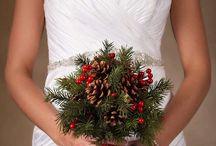 Christmas wedding bouquets