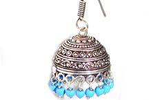 indian jhumke / imitation earrings
