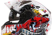 Motorbike helmet art