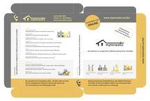Produktkarton / Imaginärer Produktkarton der myVerwalto-Online-Lösung