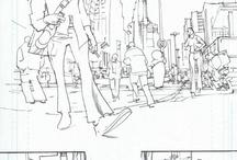 Drawings, Comics, Illustrations