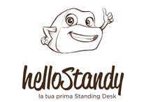 Hellostandy / HelloStandy Apparently a box of folded cardboard , with a totally simple and intuitive movement , the cardboard takes the form of a small desk . www.hellostandy.com/