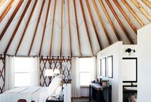 Yurt interiors: walls and ceiling