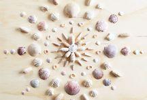 Seashell Crafts / Sea shells, mirror, coastal decor