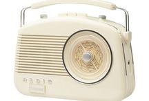 Retro Style Radio 50s Player Round Dial Bush Vintage Portable MW LW FM Antenna