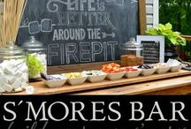 Adult party themed ideas - smore cook out