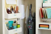 Craft Closet Inspiration / Organization, convenience and work space for all your supplies can be had by converting an underutilized closet in your home into a craft station.  For inspiration in tranforming a closet in your home into a craft storage and/or work area, browse our collection of photos from Pinterest featuring a variety of craft closet solutions and ideas.