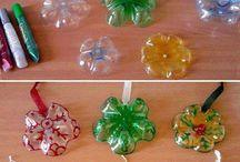 estrelas de natal recicladas