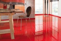 Elesgo Color Red 772314 Parlak Laminat Parke - GNS PARKE
