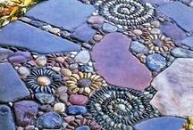 Gartengestaltung / Gartenideen, Gartengestaltung, Steine, Mauern, Ruinen, Pflanzen, Blumen, Pergola