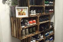 DIY SHOE RACK & shelves ideas