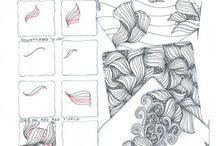 Organic tangles / Mijn favoriete tangles zijn tangles die een natuurlijke, organische uitstraling hebben. Tangles die lijken te groeien onder je handen. In dit bord een verzameling favorietjes.
