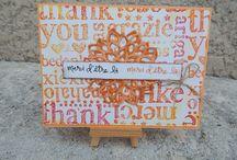 """A World of Thanks / Toutes les cartes réalisées avec le tampon de fond """"A World Of Thanks"""""""