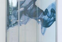 Nyomtatott üveg / Printed glass