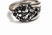 Spoon Relic Sterling Rings / Sterling Silver Spoon Rings