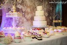 słodki stół, candy bar