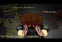 Five Nights At Freddy's / Here is pic of my fnaf game and some fanarts.