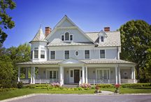 Victorian Style Home / 6,500 square foot Victorian style home complete with a beautiful slate roof, walnut floors, infinity edge pool, wrap around porch, water view and geothermal heating and cooling.  Builder: Stokkers + Company Architect: Smiros & Smiros Location: Lloyd Harbor, NY