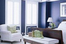 Decor / Blue bedroom ideas