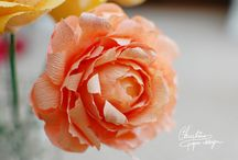 Paper flowers / Handmade paper flowers, handcrafted by Christine paper design.