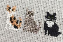 kanaviçe kedi