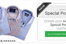 Giordano / Italiaanse overhemden van de collecties Giordano Tailored, Un limited en Regular Fit.