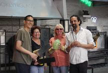 The Mazel Tov Glass Process / Check out the team in the studio! #glassblowing #mazeltov