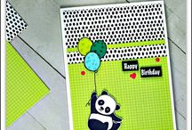 Party Pandas - Stampin Up / projects created with the Party Pandas Free stamp set from Stampin Up 2018 Sale-a-bration #stampinup #partypandas #stampinupcardideas #earn free stamps