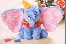 Disney knitted toys