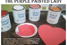 Custom Chalk Paint® Colors Made by You / The Purple Painted Lady wanted to create a fun place to share your custom Chalk Paint® creations.  Please always note the colors used and the ratio or approximate percentage of each color.  Try to use photos that show a good representation of the true color.    Thanks and have fun! / by The Purple Painted Lady ~ Tricia Kuntz