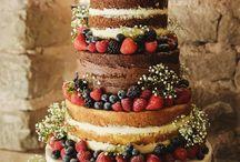 Svatební dort nepotahovany