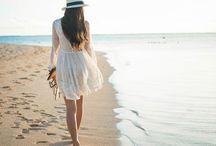 Vestido branco ensaio na praia formatura