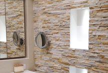 Bathroom // Natural Stone Veneer