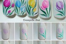 Paznokcie Kwiaty i Rośliny