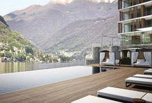Le Sereno lago di Como / prestigioso HOTEL LE SERENO sul lago di COMO con materiali e soluzioni d'avanguardia. Per questo progetto abbiamo sviluppato un nuovo sistema di serramenti scorrevoli motorizzati completamente a scomparsa e complanari al pavimento per una migliore funzionalità.