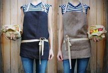 DIY Studio Apron Ideas / DIY aprons for studio artists. In the November 2014 issue of Ceramics Monthly, Jeni Hansen Gard and Lindsay Scypta demonstrate how to make a studio apron with the perfect pockets for the way you work.