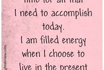 Affirmations / self-affirming words for self and others
