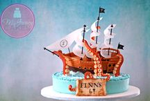 Pirate and Castle Cake