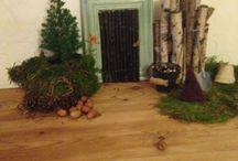 Pixie door christmas / Small door for the pixie/elf/gnome/nisse/fairy