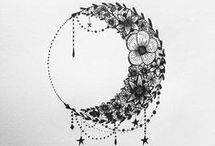 ay ve güneş tattoo