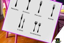 Protocolo en la mesa. / Etiqueta en la mesa